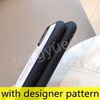 L Cas de téléphone de mode de mode de mode pour iPhone 12 11 PRO Max XS XR XSMAX 7 8 plus Couverture de téléphone portable en cuir de luxe TPU