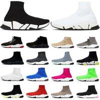 Speed 2 .0 الرجال النساء جورب أحذية عالية أعلى الأزياء حذاء ثلاثي أسود أبيض أحمر وردي كريستال بيج رمادي رجل مدرب تنس
