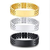 Link, Chain Fashion Bracelet Women Men Hiphop Cuban Link Bracelets Simple Design Gold Silver Color Jewelry Gifts