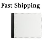 Sublimation Coin Purse Bag Blank DIY Leather Man Wallet Creative Card Package Passport Holder Birthday Gift