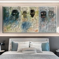 Paintings Funny Graffiti Art Jean Michel Basquiat Canvas Oil Painting Abstract Artwork Poster Wall Picture For Children's Room Decoration1