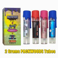 Packwoods Tubes white pink purple Runtz Preroll Joint Packaging Plastic Tank Dry Herb Storage Bottle Childproof Silicone Cap Tubes11.8*2.4cm box Bag 11 strains