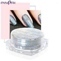 Pinpai Nail Peacock Pulver Rainbow Effect Laser Kunst Pigment DIY Salon Glitter Glänzende Maniküre Schönheit Dust1