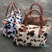 Wholesale Cow Hide Travel Bags Fannal Leopard Duffel Bags Customized Cow Print Weekend Duffle Bags DOM-1081405