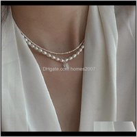 & Pendants Jewelrybeaded Choker Pearl Necklace Crystal Square Water Pendant Collar Chokers Chains Women Female Jewelry Mg258 Necklaces Drop D