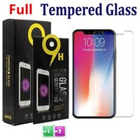 Full cover Tempered Glass Screen Protector for iphone 12 11 Pro Max XS XR Samsung A20 LG Stylo 0.33mm 2.5D 9H with package