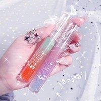 Batom natural de alto brilho longo duradouro hidratante nourishing glitter lipgloss reduz linhas de lábios Plumping soro lábio cuidado
