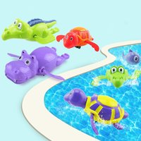 Cartoon Kreative Kinder Uhrwerk Spielzeug Schwimmen Schildkröten Spiel Wasser Spielzeug Kinder Bad Pool Tiere Wind Auf Spielzeug