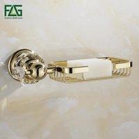 Plats à savon FLG Goldcrystal mural de salle de bain de salle de bain de cuivre Panier de cuisine en cuivre G135-07G