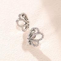2021 New arrival 925 Sterling Silver Stud Earring for Pandora Butterfly Outlines Earrings luxury designer Women earrings Original Box Set