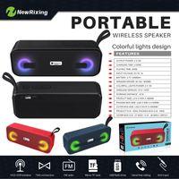 NR-2014 Mini Sem Fio Bluetooth Colorido Lâmpada de Pulso LED Luz Flash Speaker Suporte USB TF Função FM VS V318 BT808L XL Pílula S10 X3 BT808NL