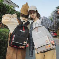Backpack High School Student Backpacks Female Casual Travel Rucksack Waterproof Nylon For Girls College Style Laptop Schoolbag