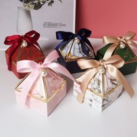 Wedding Favors Gem Tower Bronzing Candy box Packing Bags Festival Party Supplies Gift Boxes Red
