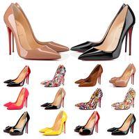 2019 Designer Schuhe Turnschuhe So Kate Styles High Heels Rot Bottoms Heels 12CM Echtes Leder Point Toe Pumps Gummi Größe 35-42