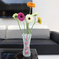 50st Creative Clear Pvc Plastic Vaser Vattenpåse Miljövänlig Vikbar Blomma Vase Återanvändbar Hem Bröllopsdekoration Blomma Vaser 1355