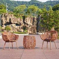 Meubles en rotin de plein air Set de meubles de jardin dans la salle de coussin de chaise de canapé coussin