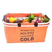 Portable portable food incubator Oxford cloth foldable lunch bag aluminum alloy frame party picnic bag