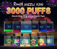 Randm Dazzle King Keutable E Cigarette 3000Puffs R und M VAPE mit wiederaufladbaren 12 Farben