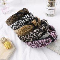Señoras leopardo diadema 9 colores tela anudada ancho de ala ancha grandes gilrs boutique palitos de cabello mujeres vintage princesa cabeza 060330 182 y2
