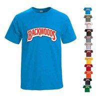 T Shirt Backwoods Galletas Marca Algodón Camisas Llanos Hombres Impresora de manga corta Casual suelto negro