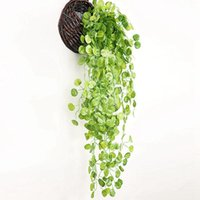 Decorative Flowers & Wreaths 95cm Artificial Plants Hanging Vines Wedding Garden Decoration Fake Plant Decor For Wall Green Leaves Decoratin