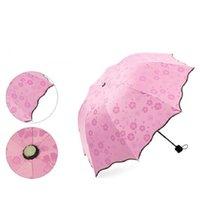 3 сложенные пылезащитные анти-УФ зонтики навесят зонтик зонтики волшебный цветок купол солнцезащитный крем Portableood5983