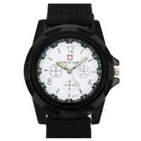 Moda Swiss Watch Nylon Band Braided Band Militare Gemius Casual Polso da polso per uomo orologi da polso