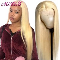 Blonde 613 Lace Front Wig Transparent Wigs 8- 30 Inch Human Hair For Women Pre Plucked Middle Part 13x6 X11