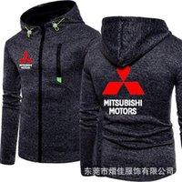 Men's Hoodies & Sweatshirts 2021 Spring And Autumn Fashion Mitsubishi Motors Logo Hoodie Men Casual Zipper Hooded Jacket Tracksuit