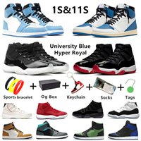 حذاء كرة السلة الرجالي Jumpman 11S  11 للرجال من ترافيس س  Air Jordan 1 Jordans 11كوت تويست 1s Dark Mocha 1 أسود إصبع القدم محظور كونكورد جامعة للرجال والنساء أحذية رياضية رياضية