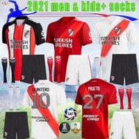 2021 2022 River Plate Man Kids Soccer Jerseys de la Cruz Quintero 21 22 Borre Fernandez Pratto Tuta da calcio