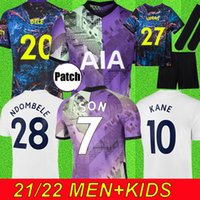 21 22 Kane Sohn Bale Bergwijn Tottenham DELE Fussball Jerseys 2021 2022 Lucas Football Kit Hemd NDOMBLEE Vinicius Tops Männer + Kinder Sets Uniform