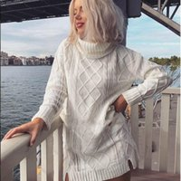 Women Turtleneck Sweaters Fashion Female Womens Top Ladies Style Winter Clothes Plus Size Long Sweater Women's