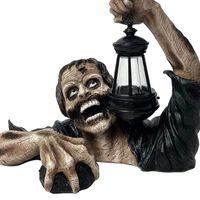 Night Lights Creative Lantern Zombie Terror Halloween Outdoor Decor Garden Statue With Battery For Yard