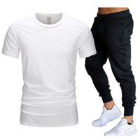 Summer Fashion 2021 Designer Men Tracksuits Shirt Sets+pants Two Pieces Sets Casual Mens t Shirts Joggers Skinny Pants Gyms Fitness