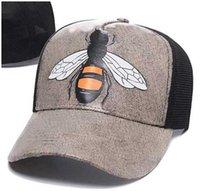 2021 مصمم رجل قبعات البيسبول الماركات النمر رئيس القبعات النحل الأفعى المطرزة العظام الرجال النساء casquette الشمس قبعة غوراس الرياضية شبكة قبعة