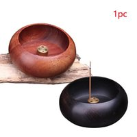 Fragrance Lamps Furnace Aromatic Stick Holder Round Practical Durable Ash Catcher Incense Cone Plate Pentagram Buddha Home Yin Yang Wood Bur