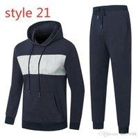 Itália marca homem designer faixas esportes terno faixa mosaico outono outono inverno esportes homens roupas casuais vestuário jovem tendência sportswear