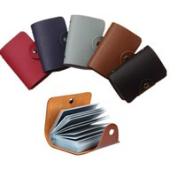 Card Holders 24 Bits Case Men Leather Function Business Holder Women Credit Passport Bag ID Wallet 3 Style