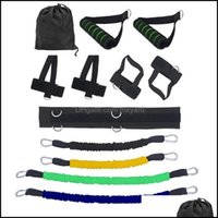 Equipments Supplies Sports & Outdoors11Pcs Set Pl Rope Fitness Exercises Resistance Bands Latex Tubes Pedal Excerciser Body Training Workout