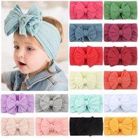 Baby Girl Turban Headband Soft Nylon Headwraps Bow Knot Headbands Stretchy Hair Bands Children Little Girls Fashion Hairs Accessories 9223
