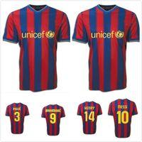2009 2010 dani alves messi xavi a.inasta Henry Ibrahimovic Home Retro Fussball Jersey 09 10 Bojan Pedro Sergio Vintage Classic Football Shirt