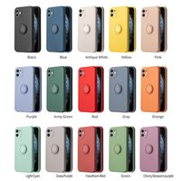 Liquid Silicone Cases Cell Phones Soft TPU 360 Rotation Kickstand Ring Holder Case for iPhone 13 12 Pro Max Mini X XS 7 8 Plus