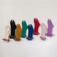 Fashion Children Socks con pizzo ginocchio ad alta rotta incresci principessa calze per bambini ragazze ragazze baby gamba caldi di cotone 1-7 anni 1055 y2