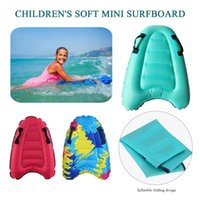 60x80cm Children's Inflatable Surfboa Light And Soft Mini Surfboard Outdoor Swimming Pool Beach Floating Mat Life Vest & Buoy
