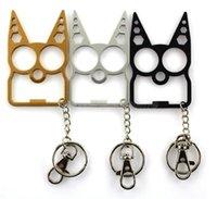 멀티 기능 자기 방어 키 체인 정신 고양이 자동차 키 체인 병 오프너 크리 에이 티브 렌치 깨진 된 창 열쇠 고리 핸드백 키 체인
