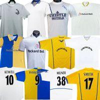 HasselBaink Leeds Retro Futebol Jerseys Unidos 1972 78 95 96 97 98 99 00 01 02 Clássico Antigo Camisa de Futebol Smith Kewell Hopkin Batty Milner Viduka Vintage Jersey