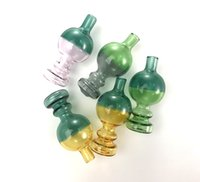 OD 30mm Colors Heady Unique Ball Shape Style Carb Caps Dome For Quartz Banger Nails Glass Water Bongs Glass Bubble Dab Tool Smoking Accessories