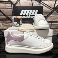Top Qualität Männer Womens Echtes Leder Schuhe Frauen Mode Samt Falt Sneakers Herren Platform Leders Luxus Designer Lässige Trainer