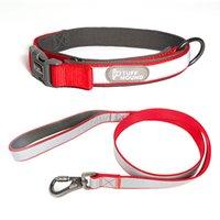 Nylon Pet Dog Training Collar lead Leash Set Adjustable Reflective Personalized for Small Medium Large Dogs